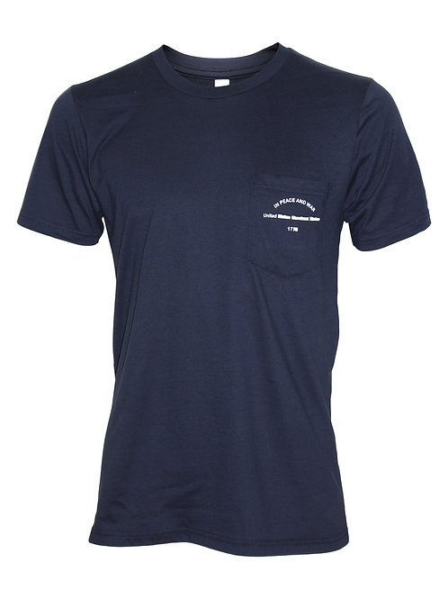 Lookoutgear Short Sleeve Crew Tee with Pocket Front View