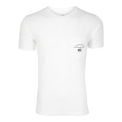 Lookoutgear Mariner Short Sleeve Crew Pocket T-Shirt - Cabin White