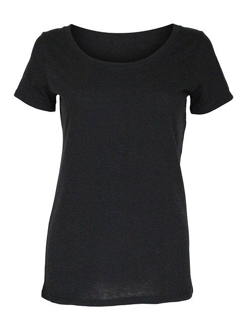Lookoutgear Women's Casual Scoop Neck Top - Black