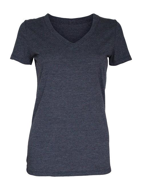Lookoutgear Women's Casual Deep V-Neck Top - Indigo Blue