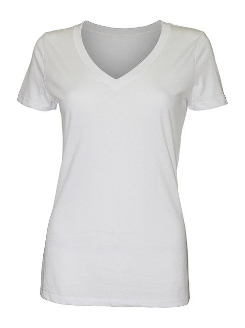 Lookoutgear Women's Casual Deep V-Neck Top - White