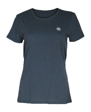Lookoutgear Women's Short Sleeve Crew Neck Pacific Blue Top