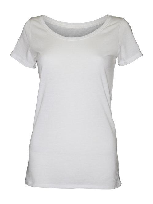 Lookoutgear Women's Casual Scoop Neck Top - White