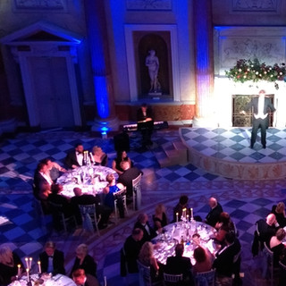 Blue Uplighters & Table Spotting