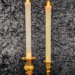 Real Wax LED Taper Candles