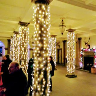 Fairy Lights On Pillars
