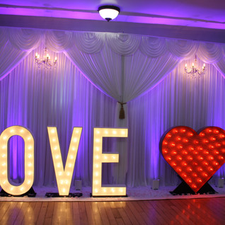 Backdrop With LOVE & Heart