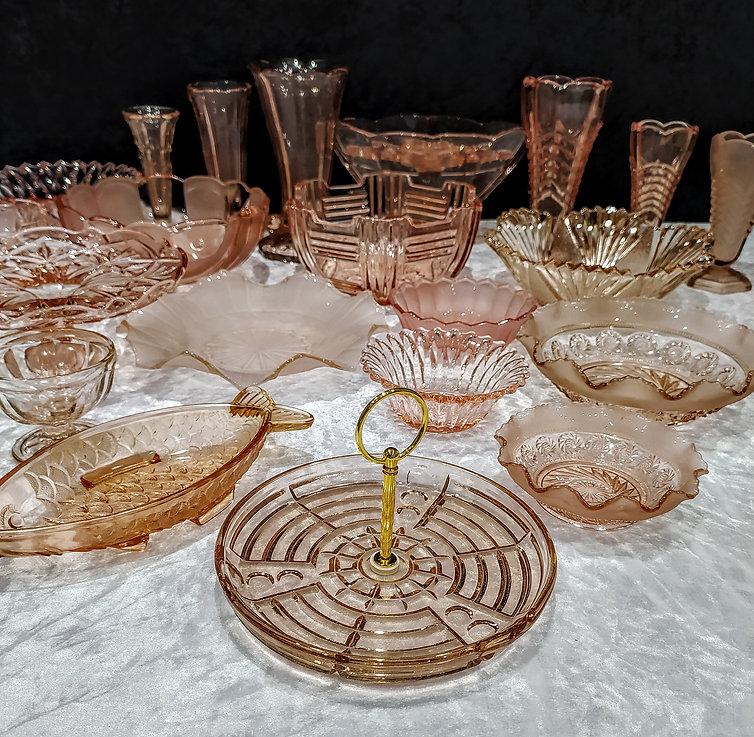 Mixed Pink Art Deco Glassware.jpg