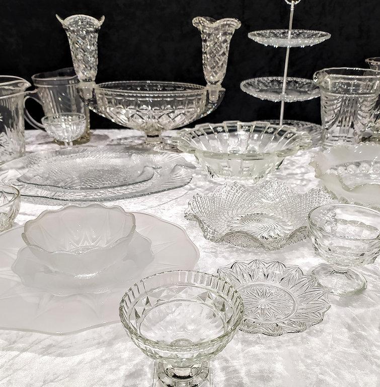 Mixed Clear Art Deco Glassware.jpg
