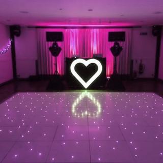 LED Dance Floor & Light Up Heart