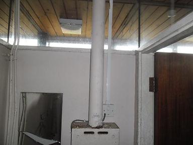 Asbestos cement flue from an asbestos demolition survey in Townhill, Swansea,2014