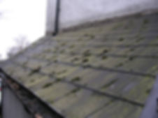 Asbestos-containing roof tiles from a Type 2 asbestos survey in Newport, 2010