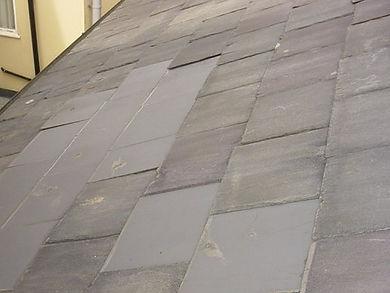 Asbestos cement roof tiles from a Type 2 asbestos survey in Newbury, 2004