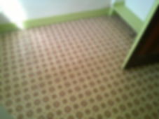 Asbestos paper-backed vinyl flooring gasket on oven from anasbestos refurbishment survey in Sketty, Swansea, 2014