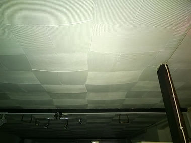 """Asbestos-containing """"artex""""-type decorative ceilingcoating from an asbestos management survey in Ely, Cardiff, 2014"""
