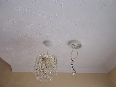 "Asbestos-containing ""artex""-type decorative ceilingcoating from an asbestos refurbishment survey in Neath Abbey, Neath Port Talbot, 2016"