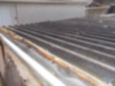 Asbestos-containing bitumen coating in Llanelli, Carmarthenshire, confirmed by bulk sampling, 2016