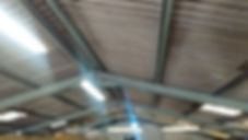 Asbestos cement roof sheets froman asbestos management survey of an industrial unit in Ely, Cardiff, 2017