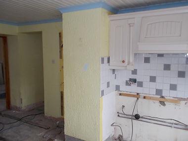 "Asbestos-containing ""artex""-type decorative wallcoating from an asbestos refurbishment survey in Kilgetty, Carmarthenshire, 2016"