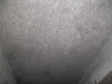 Asbestos cement shed ceiling panels from an asbestos refurbishmentsurvey in Llangynwyd, Maesteg, Bridgend2016