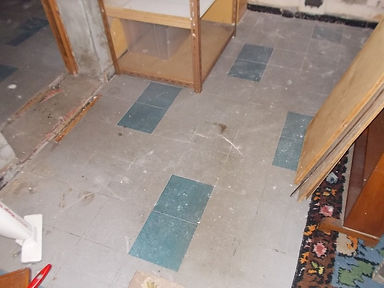 Asbestos-containing floor tiles from an asbestos refurbishment survey in Porthcawl, Bridgend, 2015