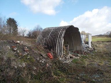 Asbestos cement sheets from an asbestos demolition survey in Ammanford, Carmarthenshire, 2014