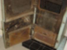 Asbestos rope door seal from a Type 3asbestos survey in Swansea, 2005