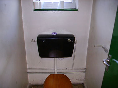 Asbestos-reinforced cistern from a Type 2 asbestos survey in Caldicot, 2006