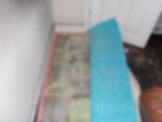 Asbestos-containing floor tiles from an asbestos refurbishment survey in Neath, Neath Port Talbot, 2015