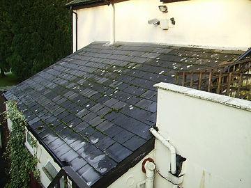 Asbestos-containing roof tilesfrom a Type 2 asbestos survey near Merthyr Tydfil, 2006