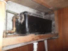 Asbestos-reinforced toilet cistern in Barry, Vale of Glamorgan