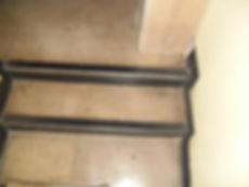 Asbestos-reinforced stair nosing from an asbestos management survey in Neath, Neath Port Talbot, 2014