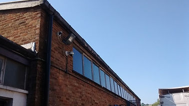 Asbestos cement guttering Leckwith, Cardiff