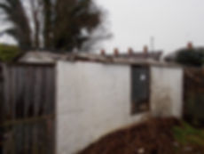 ​Garage roof sheets, asbestos cement, in Llandaff North, Cardiff, confirmed by bulk sampling, 2015