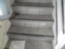 Asbestos-reinforced floor tiles & stair nosing from an asbestos managementsurvey in Port Talbot, Neath Port Talbot, 2016