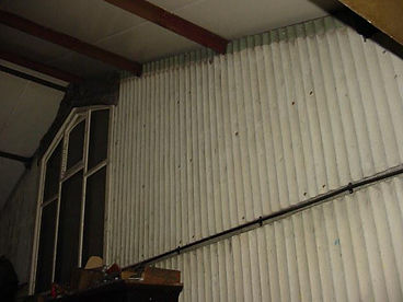 Asbestos cement wall claddingfrom a Type 2 asbestos survey in Porthcawl, Bridgend, 2006
