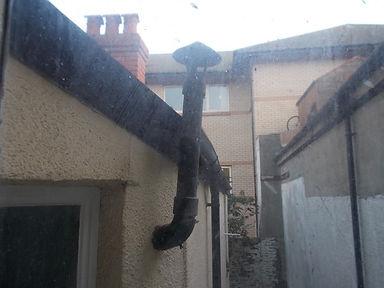 Asbestos cement flue from an asbestos management survey in Aberystwyth,2015