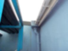 Asbestos cement rainwater cistern from an asbestos management survey in Bridgend Industrial Estate, Bridgend, 2016