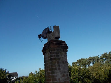 Asbestos cement cowl from an asbestos refurbishment survey in Trimsaran, Carmarthenshire, 2015