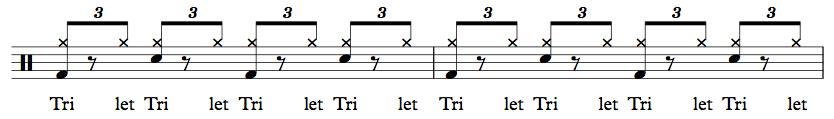 Beginner shuffle one beat rhythm - L G Drum Lessons