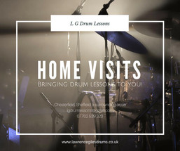 Home Visit Drum Lessons (Chesterfield)