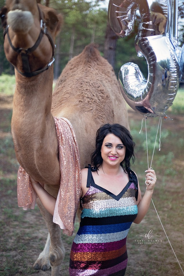 Terri Holmes, Cherry Bomb Boutique and I headed over to Lonesome Dove Drive Thru Safari for a photoshoot!