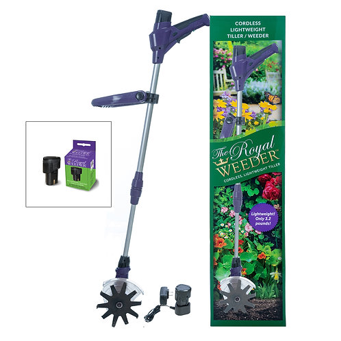 Royal Weeder w/ Charging Unit and Two 10V Rechargeable Batteries