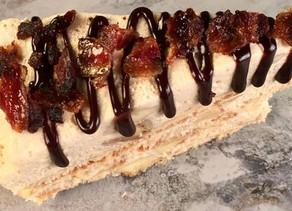 Peanut Butter Banana Bacon Ice Box Cake