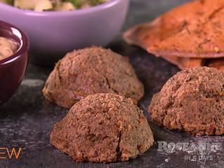 Lightened Up Chickpea and Mushroom Meatball Platter