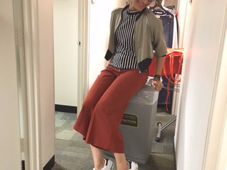 Cropped pants and stripes