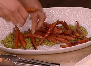 Roasted Carrots with Pistachio Pesto
