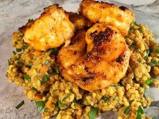 Piri Piri Marinated Shrimp with Millet Pilaf
