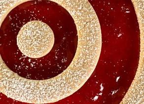 Linzer Strawberry Cheesecake