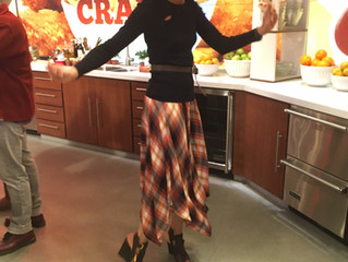 Plaid skirt and black top